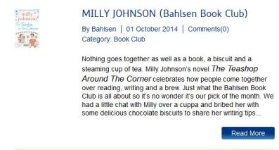 Bahlsen Book Club